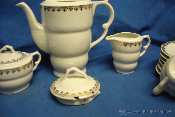 Antigüedades: JUEGO DE CAFÉ DE CERÁMICAS SANTA CLARA - MADE IN SPAIN - 15 PIEZAS - Foto 2 - 52988187