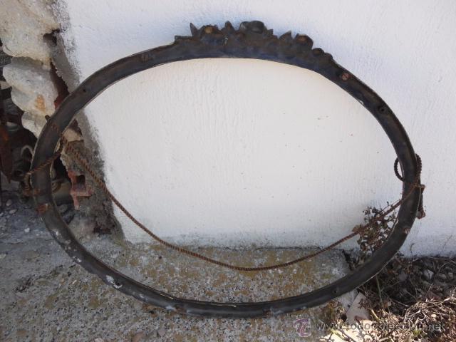 Antiguo marco de bronce ovalado para espejo con vendido for Precio espejo a medida sin marco