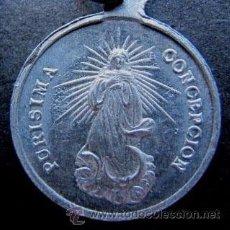 Antigüedades: ESCAPULARIO PURISIMA CONCEPCION - SAN JOSE EN PLATA DE LEY - 20MM. Lote 53011546