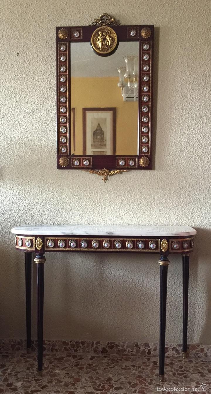 Antigüedades: Consola y espejo estilo Luis XVI - Foto 5 - 53012369