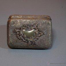 Antigüedades: CAJA PITILLERA METAL PLATEADO. Lote 53016140