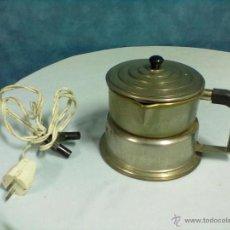Antigüedades: CALIENTALIQUIDOS CAFETERA ALUMINIO. Lote 53017360