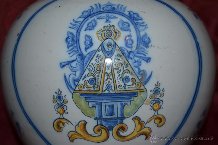 Antigüedades: MAGNIFICA JARRA EN CERAMICA DE TALAVERA,RUIZ DE LUNA,CON LA VIRGEN DEL PRADO,PRINCIPIOS DEL S. XX - Foto 6 - 53022566
