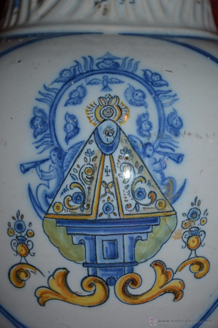 Antigüedades: MAGNIFICA JARRA EN CERAMICA DE TALAVERA,RUIZ DE LUNA,CON LA VIRGEN DEL PRADO,PRINCIPIOS DEL S. XX - Foto 11 - 53022566