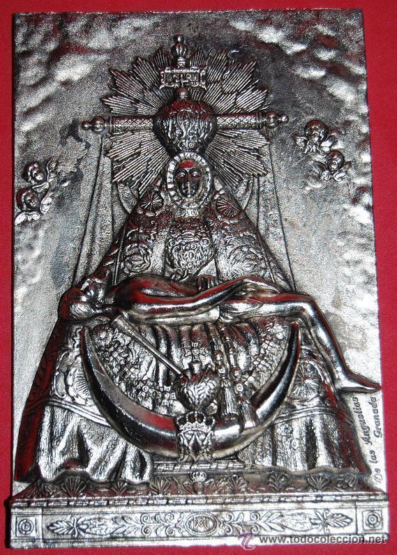 VIRGEN DE LAS ANGUSTIAS PLACA / APLIQUE VIRGEN DE LAS ANGUSTIAS-03 (Antigüedades - Religiosas - Varios)