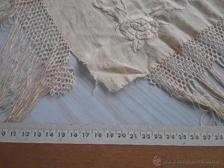 Antigüedades: Antiguo manton de manila - Foto 10 - 51644905
