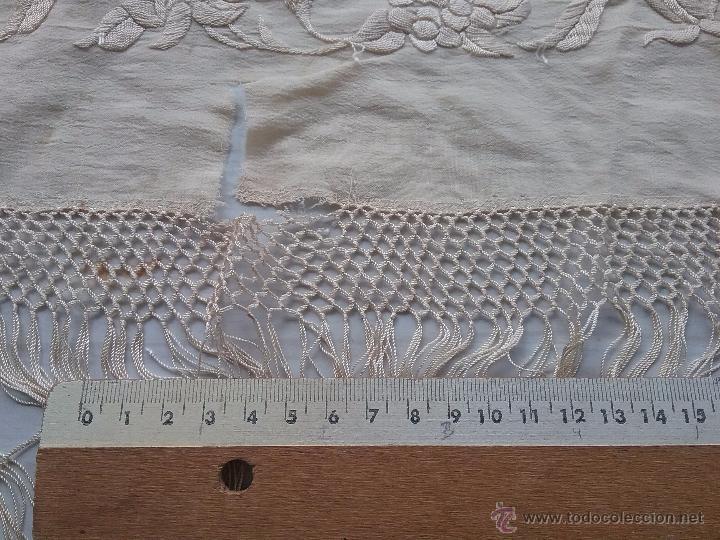 Antigüedades: Antiguo manton de manila - Foto 11 - 51644905