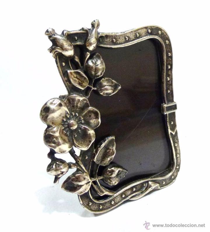 antiguo marco portafotos en plata y baquelita - - Comprar Plata de ...