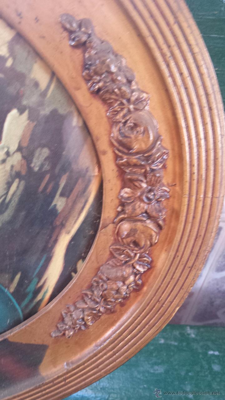 Antigüedades: antiguo marco de madera con litografia religiosa - Foto 5 - 53050726