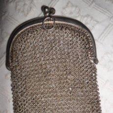 Antigüedades: ANTIGUO BOLSO MONEDERO MALLA. Lote 53052893