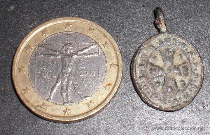 ANTIGUA MEDALLA SIGLO XVII EXHORCISMO (Antigüedades - Religiosas - Medallas Antiguas)