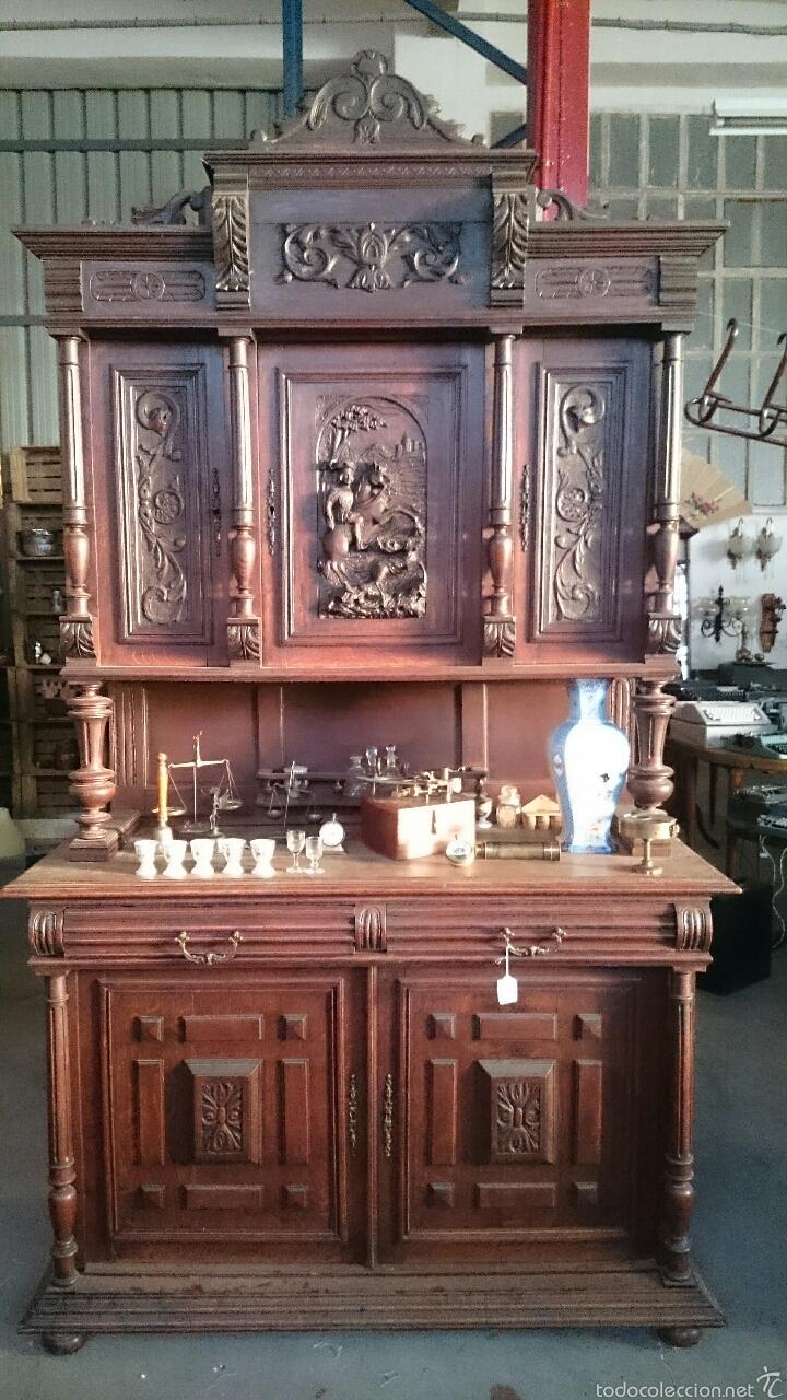 Excepcional Y Gran Mueble Estilo Renacentista P Comprar  # Muebles Renacentistas
