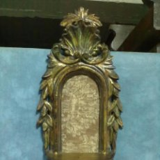 Antigüedades: REPISA MADERA TALLADA TRES OROS PEANA. Lote 53065123