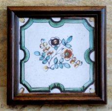 Antigüedades: MUY BONITO AZULEJO ENMARCADO - PINTADO A MANO - VALENCIA - TEMÁTICA FLORAL - COLECCIÓN. Lote 53069983