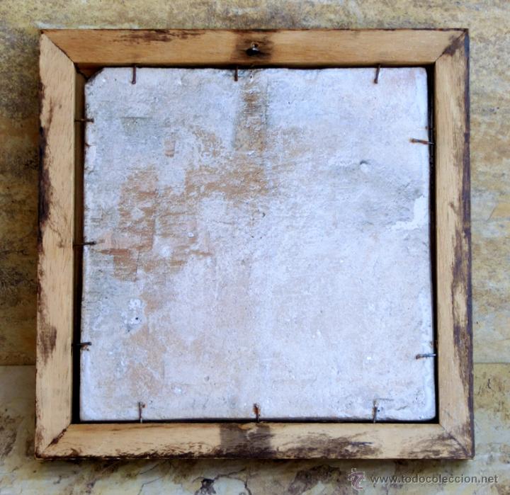 Antigüedades: MUY BONITO AZULEJO ENMARCADO - PINTADO A MANO - VALENCIA - TEMÁTICA FLORAL - COLECCIÓN - Foto 5 - 53069983