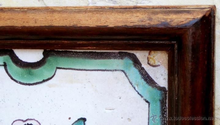 Antigüedades: MUY BONITO AZULEJO ENMARCADO - PINTADO A MANO - VALENCIA - TEMÁTICA FLORAL - COLECCIÓN - Foto 6 - 53069983