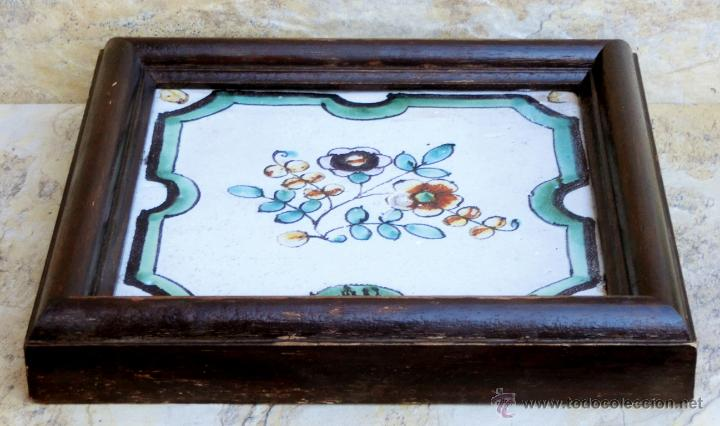 Antigüedades: MUY BONITO AZULEJO ENMARCADO - PINTADO A MANO - VALENCIA - TEMÁTICA FLORAL - COLECCIÓN - Foto 7 - 53069983