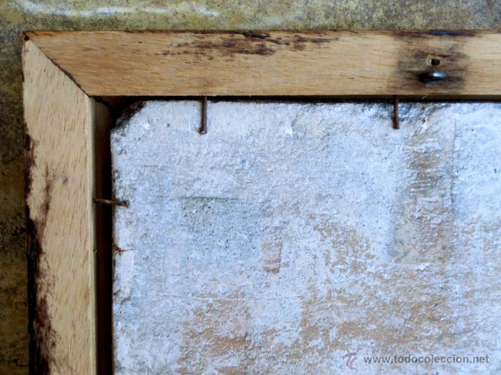 Antigüedades: MUY BONITO AZULEJO ENMARCADO - PINTADO A MANO - VALENCIA - TEMÁTICA FLORAL - COLECCIÓN - Foto 8 - 53069983