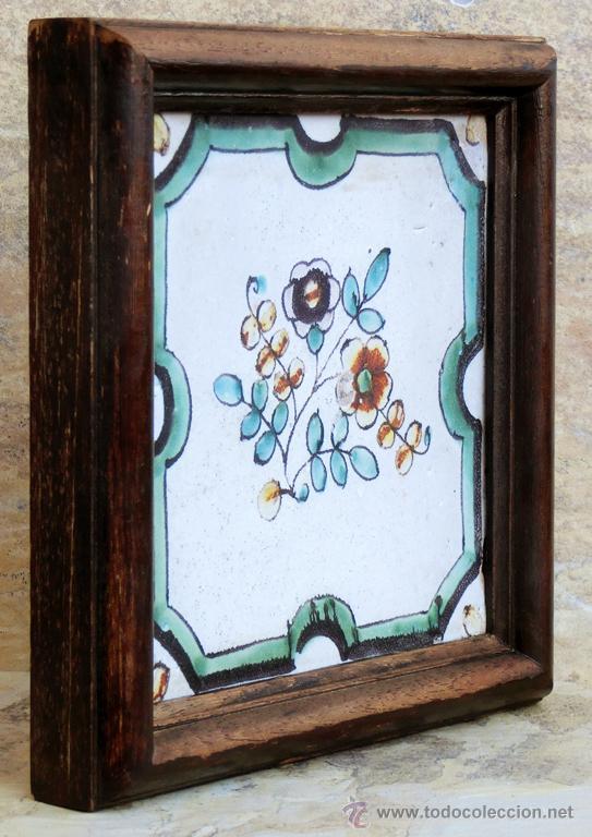 Antigüedades: MUY BONITO AZULEJO ENMARCADO - PINTADO A MANO - VALENCIA - TEMÁTICA FLORAL - COLECCIÓN - Foto 10 - 53069983