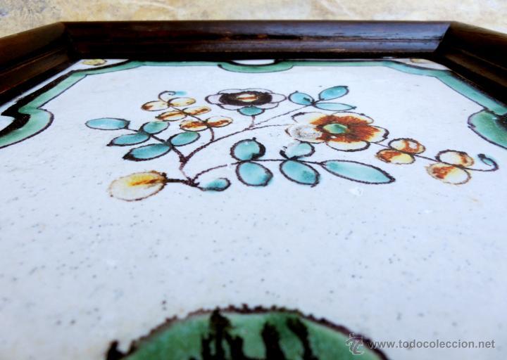 Antigüedades: MUY BONITO AZULEJO ENMARCADO - PINTADO A MANO - VALENCIA - TEMÁTICA FLORAL - COLECCIÓN - Foto 11 - 53069983