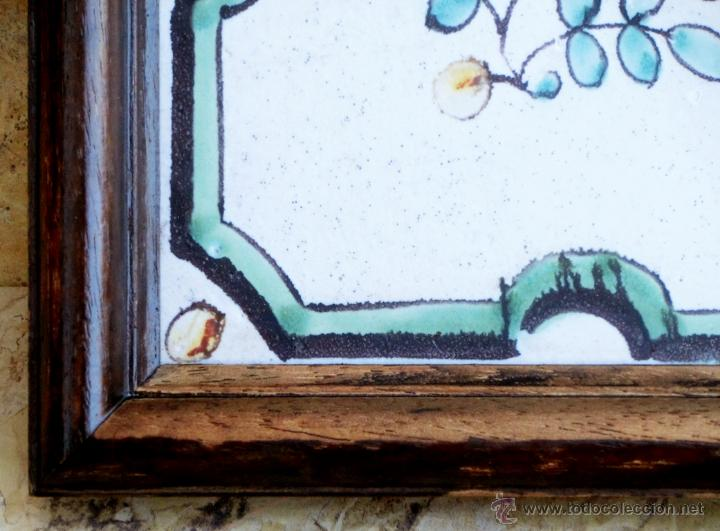 Antigüedades: MUY BONITO AZULEJO ENMARCADO - PINTADO A MANO - VALENCIA - TEMÁTICA FLORAL - COLECCIÓN - Foto 14 - 53069983