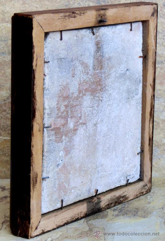Antigüedades: MUY BONITO AZULEJO ENMARCADO - PINTADO A MANO - VALENCIA - TEMÁTICA FLORAL - COLECCIÓN - Foto 15 - 53069983