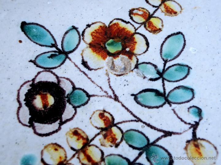 Antigüedades: MUY BONITO AZULEJO ENMARCADO - PINTADO A MANO - VALENCIA - TEMÁTICA FLORAL - COLECCIÓN - Foto 16 - 53069983