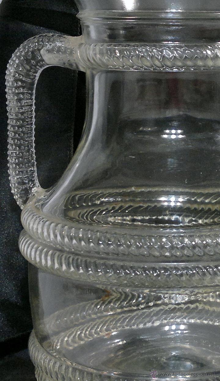 Antigüedades: PPOS. DEL SIGLO XX. ANTIGUA JARRA DE GRAN TAMAÑO EN CRISTAL. MARCADA, FIDENZA ITALY. - Foto 6 - 53071809