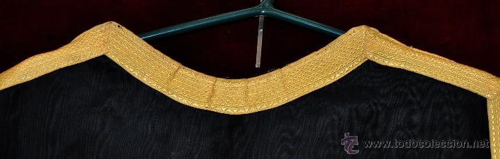 Antigüedades: DALMATICA CEREMONIAL EN TONO NEGRO Y MOTIVOS DORADOS - Foto 8 - 100790335