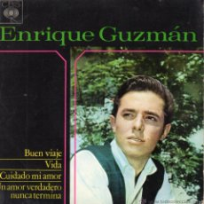 Discos de vinilo: ENRIQUE GUZMÁN, EP, BUEN VIAJE + 3, AÑO 1964. Lote 53081605