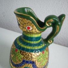Antigüedades: MAGNIFICO JARO DE CERAMICA HECHO Y PINTADO A MANO.SELADO ORO ZECCHINO ,TACRMINA. Lote 53082428
