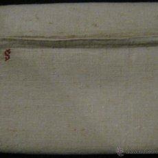 Antigüedades: ANTIGUA TOALLA DE LINO PURO CON INICIALES F.S. PPIO.S.XX. Lote 53084800