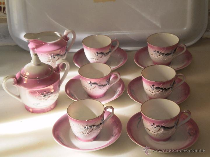 Juego de caf o te japones porcelana rosa taz comprar for Tazas de te inglesas