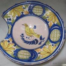 Antigüedades: PRECIOSA BACIA DE BARBERO - PAJARO. Lote 53099550