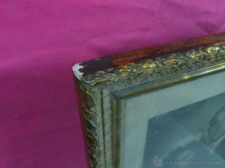 Antigüedades: ESPAÑA CUADRO PAREJA MATRIMONIO ENMARCADO.. ALFONSOJO - Foto 3 - 53103697