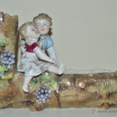 Antigüedades: FIGURA ALEMANA PORCELANA CENTRO MESA VOLKSTEDT GERMANY. Lote 53108659