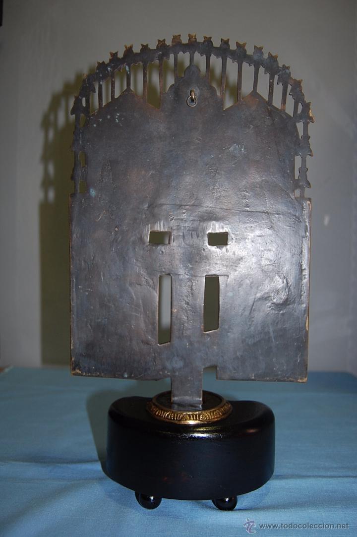 Antigüedades: ANTIGUA CRUZ ORTODOXA EN BRONCE DE 38 CM ALTURA - Foto 9 - 53110755
