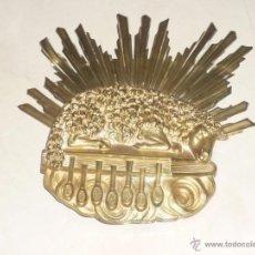 Antigüedades: BRONCE REPRESENTANDO AL AGNUS DEI, CORDERO PASCUAL DEGOLLADO, SOBRE EL LIBRO DE LOS SIETE SELLOS. Lote 53111137