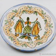 Antigüedades: GRAN PLATO DE MANISES SIGLO XIX. 34 CM DIÁMETRO. EN BUEN ESTADO SIN PELOS. Lote 53117372