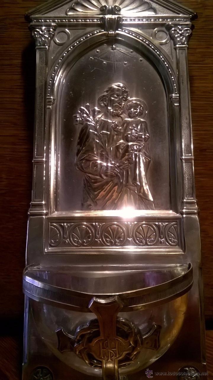 Antigüedades: Benditera bañado plata - Foto 2 - 53118987