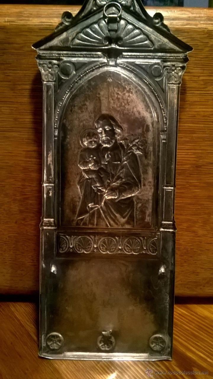 Antigüedades: Benditera bañado plata - Foto 4 - 53118987