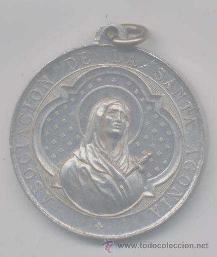 ANTIGUA MEDALLA RELIGIOSA-ASOCIACION DE LA SANTA AGONIS (Antigüedades - Religiosas - Medallas Antiguas)