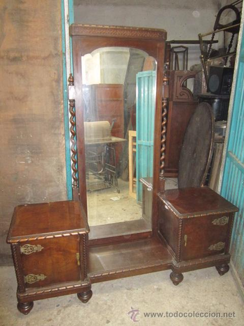 Mueble recibidor con bonito espejo para restau comprar - Restaurar muebles viejos ...