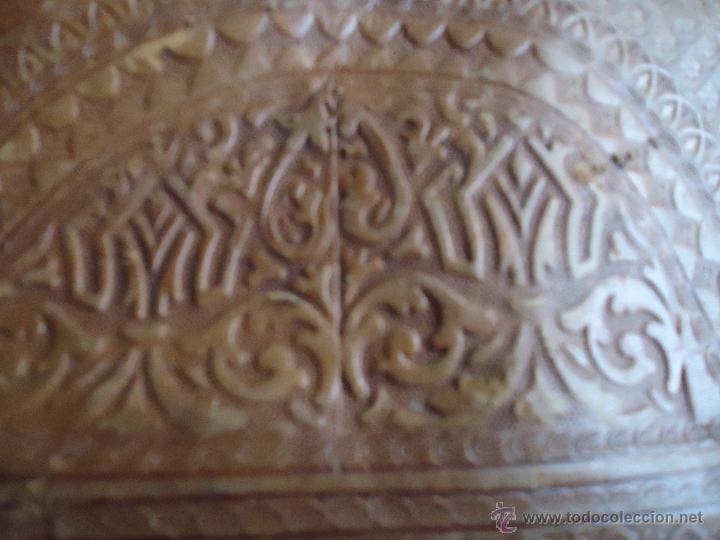 Antigüedades: espectacular bolso labrado señora o caballero cuero repujado trenzado antiguo original ver fotos - Foto 23 - 53119417