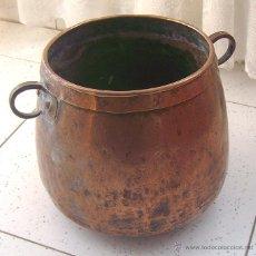 Antigüedades: ANTIGUA OLLA . MARMITA DE COBRE. Lote 53120200
