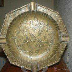 Antigüedades: GRAN CENICERO RENACENTISTA DE BRONCE, PRIMERA MITAD DEL SIGLO XX. Lote 53123162
