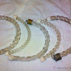Antigüedades: BRAZOS DE LAMPARA DE CRISTAL. Lote 53127790