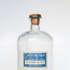 Antiguidades: ANTIGUA BOTELLA DE ALCOHOL DE FARMACIA - 22 X 10 CM. Lote 53132699