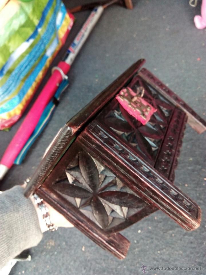 Antigüedades: COFRE DE MADERA ANTIGUA TIPO JOYERO - Foto 3 - 208829171