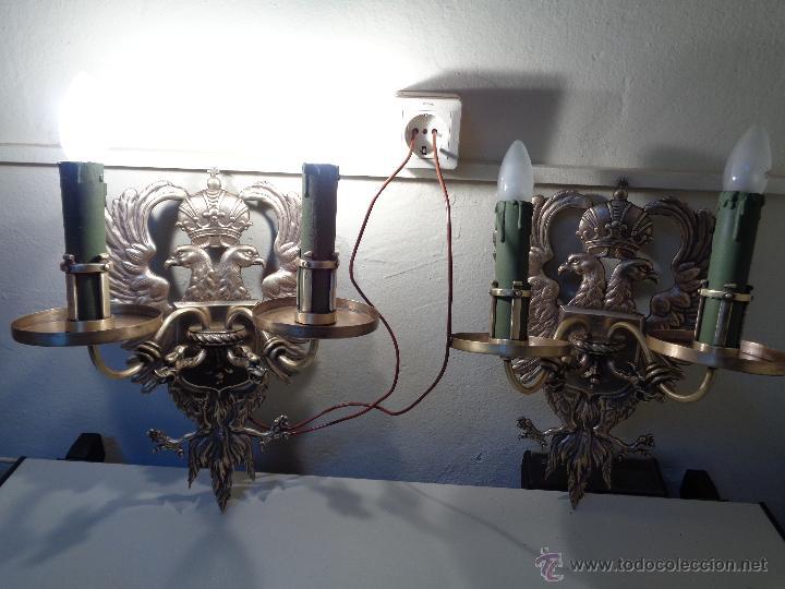 Antigüedades: lamparas apliques epoca franquista - Foto 2 - 53153174